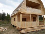 Строим Дома из бруса сруб Артем 6х8м в Жодино