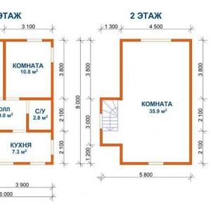 Сруб Дома эмиль доставка и установка в Жодино и район