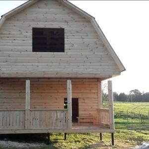 Дом сруб из бруса Елена 6×6 установка в Жодино