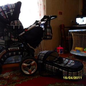 Продается коляска трансформер RIKO VIPER от 0 до 3 лет.