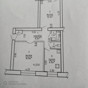 Продам 2-х комн. кв. в Жодино по ул. Гагарина в кирпичном доме