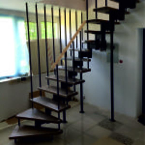 Межэтажные лестницы на металлическом каркасе 4