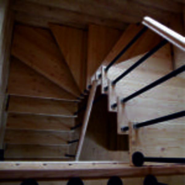 Межэтажные лестницы на металлическом каркасе 5